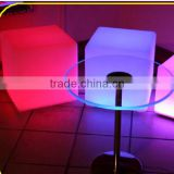 Lounge led cube table and chair / hotel living room use LED illuminated cube table