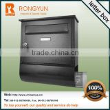 Hot letter box with glass lidand stainless steel letter box