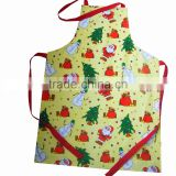 Apron Factory Supplier Promotional Christmas Design Printed 100 Cotton Bib Apron For Kids