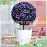New design Artificial potted topiary table decoration artificial topiary mini artificial grass topiary