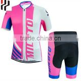 Wholesale heat transfer printing breathable cycling jersey fabric custom bike jerseys2016