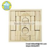 32 PCS Natural wooden baby toy Child educational building blocks wood toys