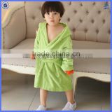 Customzied animal design hooded baby bathrobe wholesale, kids bathrobe factory
