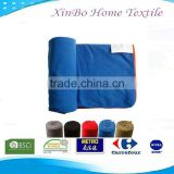Wholesale Microsoft Fabric Bedding Set Home Textile China Polar Fleece 100% Polyester Folded AntiPilling Travel Blanket
