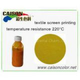 Golden yellow pigment paste for textile printing, shanghai caison water based pigment paste