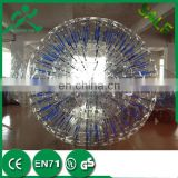 Factory Supply event/party shinny zorb ball glowing human hamster ball inflatable grass zorb balls for sale
