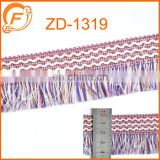 2016 purple color fringe tape for garment