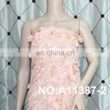 new fashion french 3d chiffon lace fabric