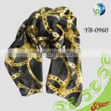 2016 Voile Printing Long Fashion Polyester Scarf For Summer