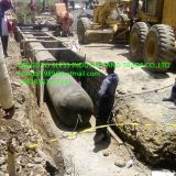 rubber air bag/balloon for the construction of circular culverts sold to Nigeria