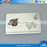 OEM printing polished finish metal business card, stainless steel card with laser engraving, China manufacturer