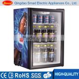 Commercial use 98L Mini display glass dooor refrigerator showcase