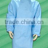 High quality SMS nonwoven waterproof sterile disposable surgical gown