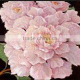 2015 Popular Selling Simple Two Panels Ready to Hang Peony Flower Oil Painting on Canvas for Living Room Wall Decorative Art