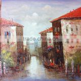 wallpaper decor Factory Price Best Quality Skillful Painters Hand Painted River Houses Oil Painting home decor paintings