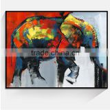 JC Wholesale Home Decoration Elephant Mould Animal Canvas Art Painting For Living Room ANI-10b