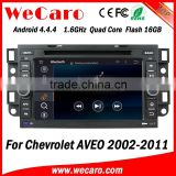 Wecaro WC-CU7011 Android 4.4.4 car stereo 2 din for chevrolet aveo car radio navigation system radio gps bluetooth 2002 -2011