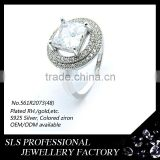 Guangzhou sheng lei shi jewelry limited 925 silver factory wholesale cheap indonesia gemstone setting rings Image