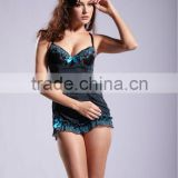 Newest design sexy women hot fashion stripe pattern short babydolls lingerie 5147
