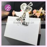 Laser Cut Table Name Place Cards/ Seat Cards Various of Colors for wholesale and retail lover /bride and groom design
