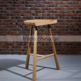 Classic wood bar stool high chair antique bar stool for heavy people solid wood funiture