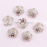 AAA Quality wholesale Jewelry findings end caps/ flower beads caps