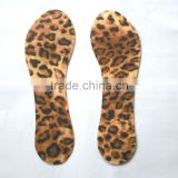 Popular Style leopard print fabric .3/4 gel ice pack gel insoles relieve foot pain high heel protector