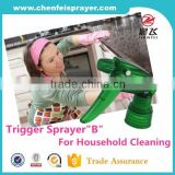 Factory direct sale new design 28mm ribbed closure plastic spray bottle trigger spray gun series B dosage 1.2cc in custom color