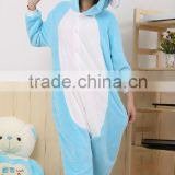 Blue elephant onesie in winter animal pajamas costumes CW-1089