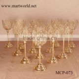 crystal champagne gold lotus shape crystal candel holder candelabra wedding decorations wedding table centerpiece(MCP-073)                                                                         Quality Choice