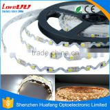 Newest Product S-shaped smd 2835 Flex led strip Super thin Silicon Coated Waterproof IP65 DC12V 300LEDs led light strip