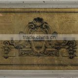 antique finishing glass prints gold foil luxury wall decor