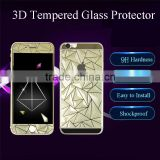 Best Selling 3D Diamond Style Tempered Glass Film Screen Protector Both Sides Front and Back Cover for Iphone 6 6plus