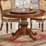 Classical taste cheap wholesale 2016 wooden carving round banquet tables in dining tables