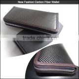 Top quality 2016 New Style carbon fiber wallet with Genuine Leather inside , real carbon wallet for sale