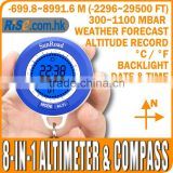 Barometer 8 in 1 Thermometer -699~8991m Altitude LCD Digital Compass Altimeter