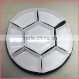 white porcelain 7 compartment dinner set with MDF tray