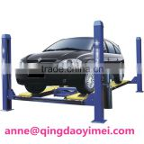 The stainless machine of Four-column auto positioning balance garage cars hydraulic electrical lifter
