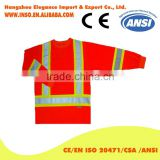 wholesale safety work shirts reflective tape/safety t shirts class 2 high quality high visibility