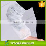 15gsm white color TNT SMS Polypropylene nonwoven arm sleeve fabric for making bed sheets