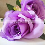S.S.-wholesale artificial purple silk rose flower head