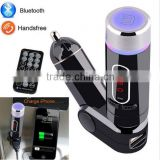 FM28B Multifunctional Bluetooth FM Transmitter Radio Adapter Handsfree Car Kit MP3 Player With Remote Control Black