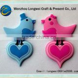 love bird refrigerator door magnet/cheap refrigerator magnets