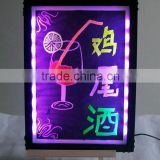 Aluminium alloy led board writing with 50x70cm tempering glass