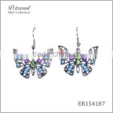 Wholesale Jewelry New Designs Ladies/Womens Ethnic Resin Beaded Earrings Butterfly Gold/Silver Plating Drop Earrings