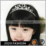 Wholesale silver plated alloy hair hoop crown rhinestone hair accessories for girls                                                                                                         Supplier's Choice