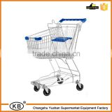 60L metal supermarket shopping push carts with baby seat