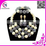 newest big fashion jewelry set with wholesales coral beads jewelry sets for newest wedding party african beads jewelry set