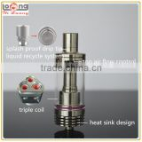 Yiloong cool design khosla triple coil sub ohm tank with splash proof drip tip and bottom heat sink for deviate mod