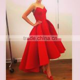 (MY2013) MARRY YOU Sexy Sweetheart Satin Prom Gowns Short Front Long Back Red Evening Dresses                                                                         Quality Choice